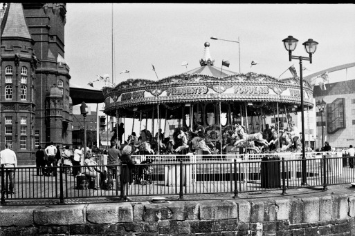 Zenit 11. FP4+ Push processed to 200ISO. Cardiff Bay