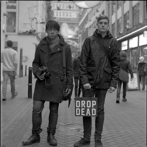 Mamiya C220. Ilford HP5+. Carnaby street, London.